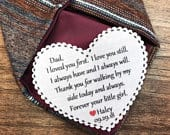TIE PATCH Father of the Bride Gift From the Bride I Loved You First, I Love You Still Sew or Iron On, 2.25 Wide Heart Shaped
