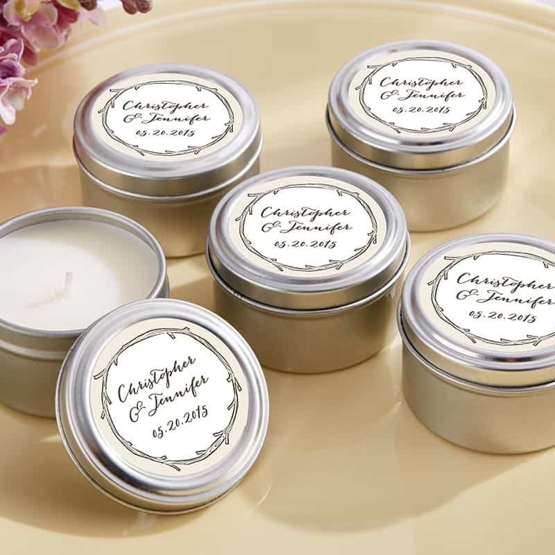 Personalized The Hunt Is Over Travel Candle