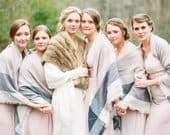 oversized scarf, fall scarf, winter scarf, pinks, beige, cream, grey, blush, gold, bridesmaid shawl, monogrammed blanket scarf, gift for her
