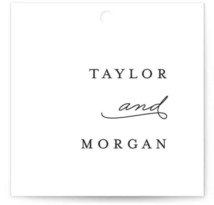 Gallant Wedding Favor Tags