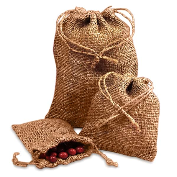 "Cord Wedding Burlap Bags - 8"" X 12"" - Quantity: 24 - Fabric Bags by Paper Mart"