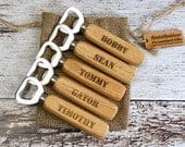 Set of 5 Wooden Personalized Bottle Opener for Groomsmen, Friends, Bar Gifts, Gifts for Men, wedding Favors, Bar Ware, Party, Birthday