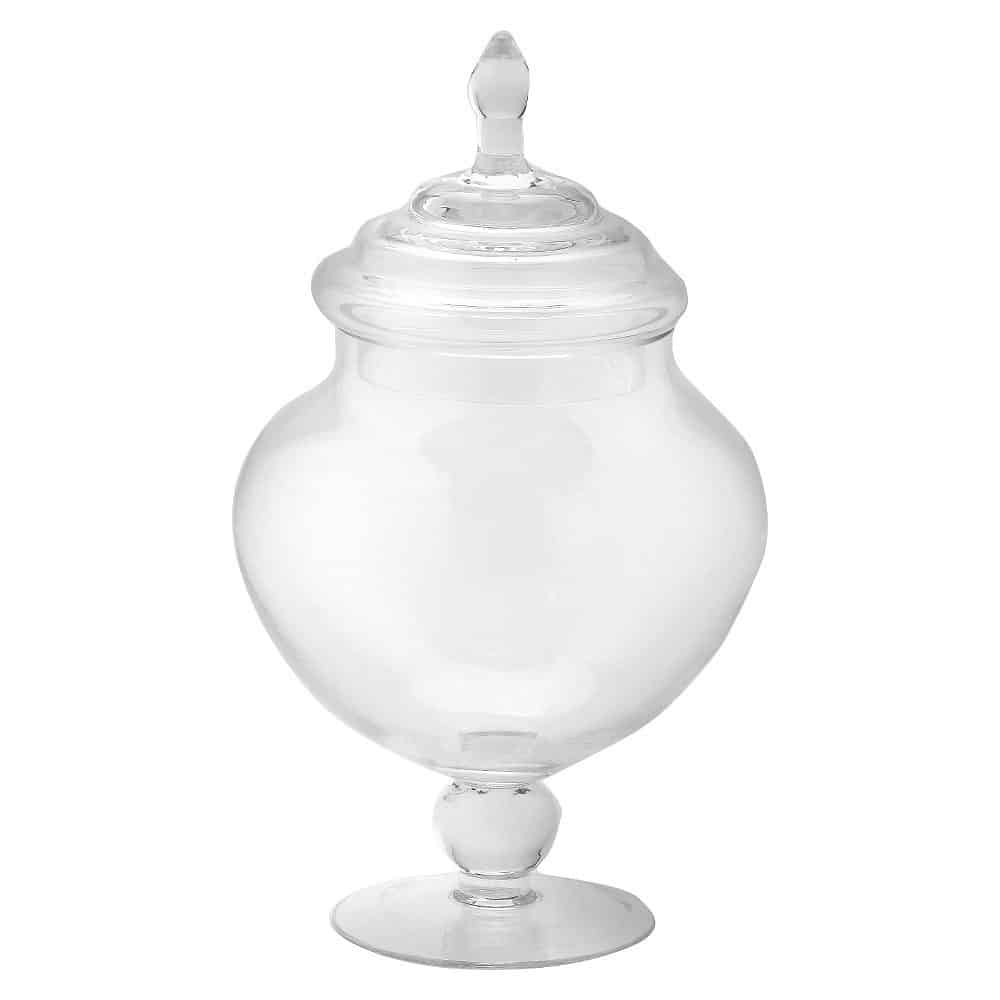 Glass Apothecary Jar - Diamond Star, Clear