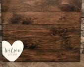 Wedding Guest Book Sign, Monogram Guestbook, Guest Book, Wooden Guest Sign, Wedding Decor, Wedding Ceremony Sign, Rustic Wedding Sign