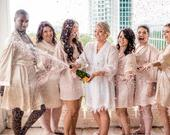 Bridesmaid Robes, Bridesmaids Gifts, Bridesmaid Satin Robes, Wedding Robes, Bridal Party Robes, Womens Satin Robe, Getting Ready Silk Robes