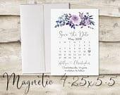 4.25x5.5 inch Calendar Save The Date Magnet, Magnet Save the Date, NonPhoto Save the Date, Save the Date Magnet without Photograph