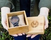 Engraved Wooden Watch Gift Box, 5th Anniversary Wood Gift for Husband, Wedding Gift for Groom, Best Man Groomsman Gift, Boyfriend Gifts