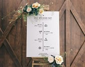 Editable Order Of Events Wedding Sign Wedding Day Timeline Sign Minimalist Wedding Sign