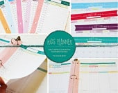 Kids Organizational Daily, Weekly, Monthly Planner Set 5 color sets