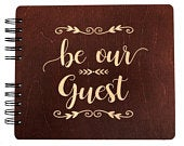 Be Our Guest Wedding Gift Bridal Shower for Bride Groom Guest Book Rustic Ceremony Reception Decor Newlyweds Couples Wooden Sign In Gifts