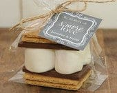 24 Smores Wedding Favor Kits Chalkboard Tag Design Smores Favor Smore Love Tag