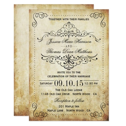 The Ornate Flourish Vintage Wedding Collection Invitation
