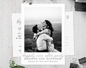 Happily Ever After Postcard Invitation, Post Wedding Photo Card, Printable Elopement Invite, After Wedding, Reception Invitation, Reception