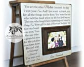 Mother of The Groom Gift, Mother of The Bride Gift, Father of the Bride gift, Personalized Picture Frame, You Are The Mother, 16x16