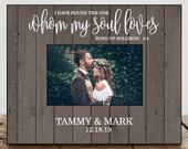 Personalized Wedding Gift for Couple Wedding Gift for Bride Wedding Shower Gifts for Couple Wedding Photo Frame Wedding Picture Quote 8086
