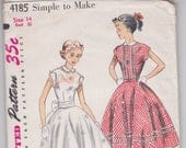 1950s Simplicity sewing pattern teen age girls dress size 14
