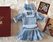 American Girl Samanthas Skating Party Dress and Bow in Original Box with Samanthas Winter Party Book and Pamphlet, Pleasant Company