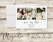 4.25x5.5 inch MultiPhoto Save The Date Magnet, Magnet Save the Date with Multiple, Photograph Save the Date, Save the Date with Photos