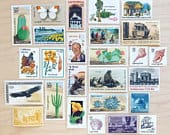 California Vintage Postage Stamp Sets . Unused USPS Stamps
