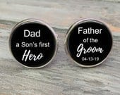 FATHER of the GROOM gift, Father of the Groom Cufflinks Personalized Gift for Father of the Groom, Father of the groom gift from son