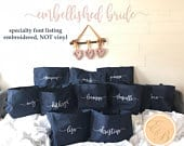 Top Seller/Set of 11 tote bags, Bridesmaid Gift Tote, Maid of Honor Gift, Personalized Bridesmaid Bags, Bridesmaid Gifts, ZIPPERED