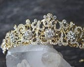 Gold Bridal Tiara ELLA Tiara Rose Gold Wedding Tiara Wedding Crown Victorian Tiara As Seen in Grace Ormonde Wedding Style Magazine