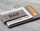 Personalized Mens Money Clip Wallet, Leather Money Clip Card Holder, Fathers Day Gifts for Dad, Mens Personalized Gifts, Husband Gift