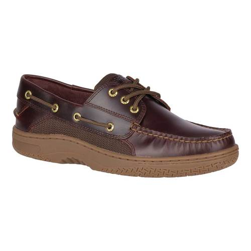 Men's Sperry Top-Sider Billfish 3-Eye Boat Shoe, Size: 12 M, Amaretto Full Grain Leather