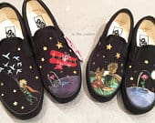 Custom Hand Painted Vans Shoes (Movie Edition, 3D): The Little Prince, The Little Prince movie, 3D, story book, character, special gift