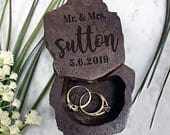 Ring Bearer Box, Wedding Ring Box, Wood Ring Box, Wooden Ring Box, Rustic Ring Box, Custom Wedding Ring Box, Personalized 31524RBOX006
