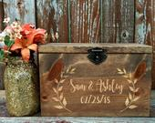 Wedding Card Box with Slot and Lock options, Wedding card box, rustic wedding card box, wedding card box, wedding card holder, wood card box