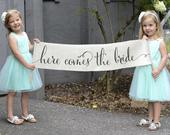 Here Comes the Bride Banner, Wedding Banner