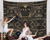 Gatsby Wedding, Gatsby Party Photo Booth, Great Gatsby Style Party Decor, Gatsby Wedding Sign, Gatsby Banner Backdrop / HT31TP REG1 AA3
