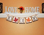 SAVE the DATE BANNER, Fall Wedding Sign, Bridal Shower Decoration, Bride to Be Decor, Fall Wedding Date Banner, Save the date Photo Prop