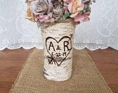 Bride gift Rustic wedding decor Gift for her Wedding decorations rustic Engagement gift for bride Sweetheart table decor