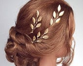 Bridal Headpiece, Gold Bridal Hair Vine, Gold Leaf Hair Comb, Gold Hair Vine, Bridal Comb, Wedding Hair piece, Gold Leaf Hair Vine