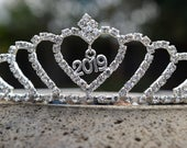 Graduation Tiara, 2020 Tiara, Class of 2019 Crown, Prom Tiara, New Years 2020 Crown, Rhinestone Crystal Grad Night Crown, Graduation Party