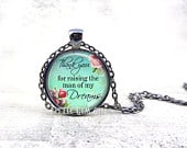 Mother of the Groom Gift Thank you for raising the Man of my Dreams Necklace 5 Finishes 15 Designs Wedding Keepsake for Mom