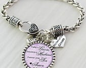 Mother of the Groom Gift, Personalized Wedding Bracelet, Message, Today a Groom, Tomorrow a Husband, Bracelet for MOG, Name and Date Jewelry