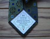 Dad Tie patch / Father of the bride / Personalized Tie Patch / Father of the Groom / Thank You Dad Label / iron on tie patch / tie patch