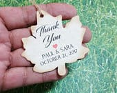 Leaf Shaped THANK YOU favor tags, Fall wedding favor tags,custom personalized tags/party favor tag/autumn wedding thank you tagsmaple syrup