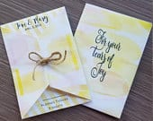 Wedding ceremony or reception sachets bath salts Kleenex tissues or seeds pouches favors bridal shower favors Personalized SET OF 10