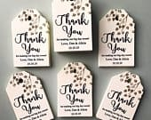 Birch Tree Tags, Branch Favor Tags, Fall Wedding Tags, Winter Wedding, Thank you Tags