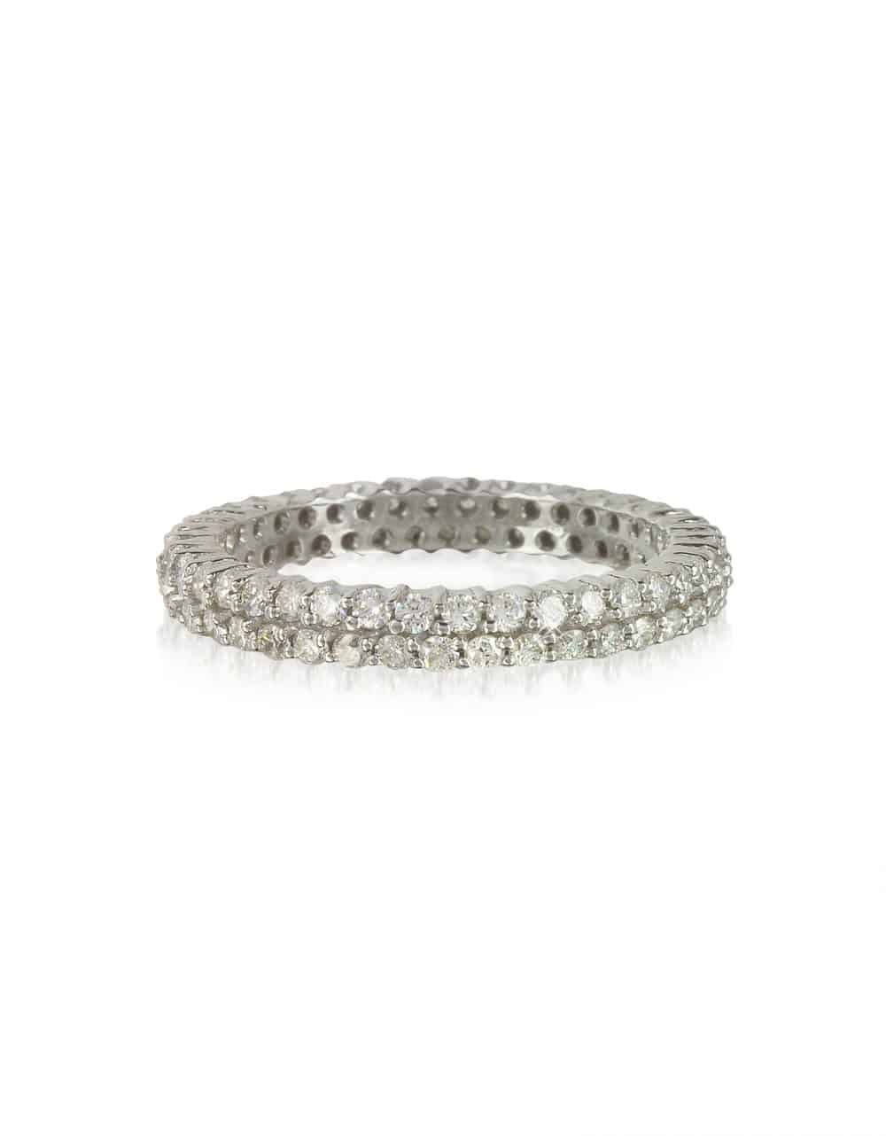 Forzieri Rings Diamonds Eternity Double Band Ring