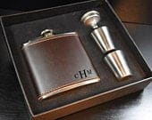 Gifts Monogrammed Flask Personalized Flask Engraved Flask Leather Flask Gift For Anniversary Gift For Mom Gift For Grandma Gift For Mother