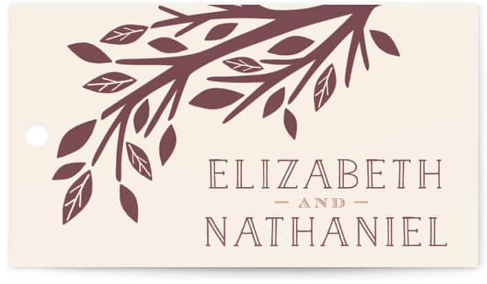 Enchanted Wedding Favor Tags