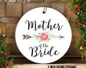 Mother of the Bride Ornament Wedding Christmas Ornament Wedding Gift to Mom Wedding Favor Mother of the Bride Gift Mother in Law OPH59