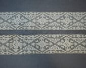 Vintage Wide Lace Trim, Antique Filet 3 inches wide, 2 yards