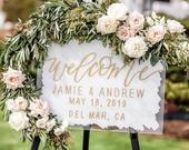 Welcome Sign Wedding Acrylic Welcome To Our Wedding Clear Signs Custom Wedding Sign Wedding Ceremony Sign Personalized Sign