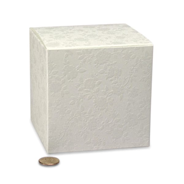 "Lace Wedding Favor Boxes Cardboard - Quantity: 20 Width: 4"" Height/Depth: 6 1/4"" Length: 4"" by Paper Mart"